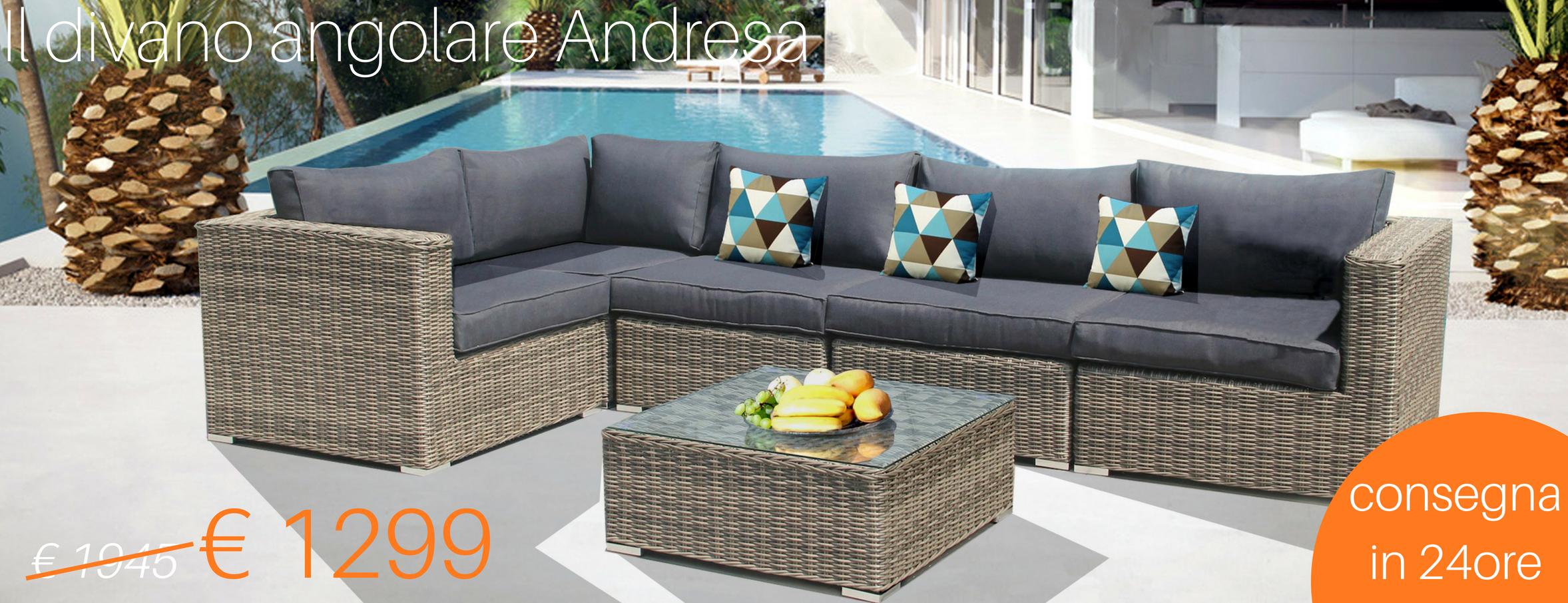 Arredo giardino on line mobili da esterno online for Arredo giardino rattan offerte