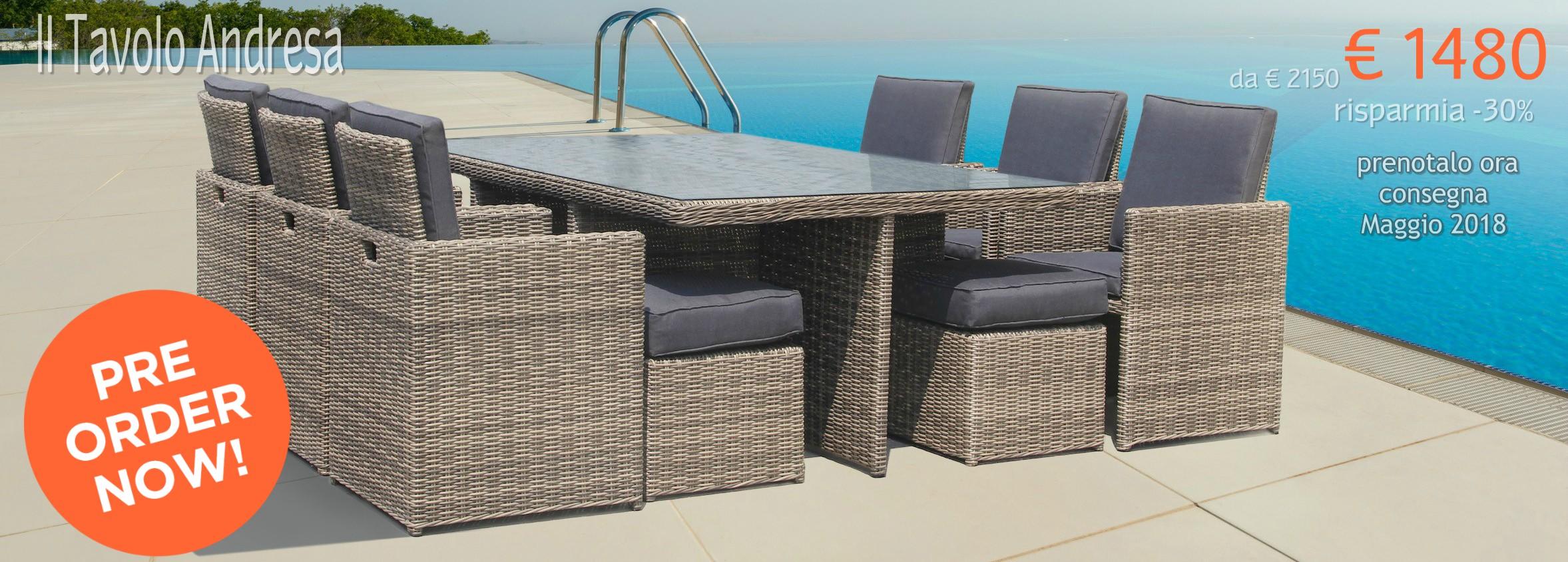 Arredo giardino on line mobili da esterno online for Arredo giardino on line