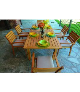 Set Tavolo Sedie Legno Giardino.Tavoli E Sedie Da Giardino Online Prezzi E Occasioni