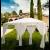 Gazebo da giardino in acciaio cm. 300x400 con teli laterali Andalusia