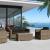 Set salotto divani da giardino due posti in rattan sintetico da esterno Andresa