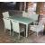 tavolo 6 posti in rattan sintetico bianco