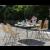 Set tavolo da giardino 4 posti in legno Osaka