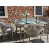 Tavolo da pranzo in alluminio e corda da esterno giardino Renton