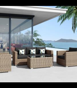 Set salotto divani da giardino in rattan sintetico Andresa