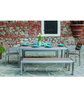 Set Tavolo da pranzo in alluminio da esterno giardino Seattle
