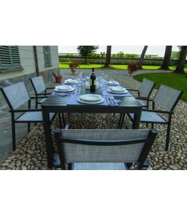 Set Tavolo da pranzo estensibile  in alluminio da esterno giardino Cleveland grigio