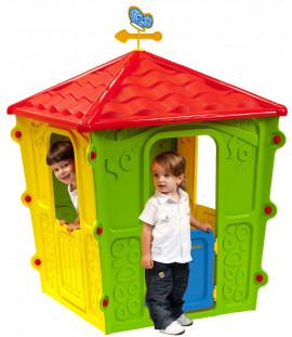 Casetta da esterno gioco per bambini cm. 108x108x152