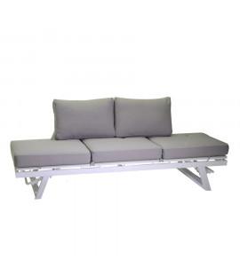 Divano 3 posti in alluminio Bianco Arlington