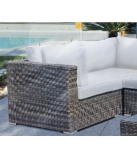 Set fodere sostitutive col. bianco per divano angolare Andresa