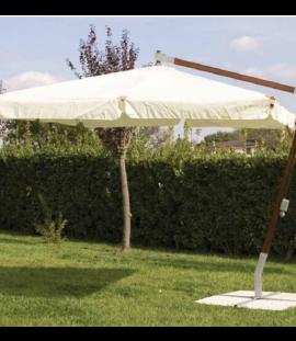 Ombrellone decentrato in legno cm. 300x300 St. Tropez