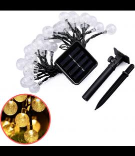 Catena Luminosa A LED Solare Da Interno Ed Esterno Impermeabile IP68 7 Mt 50 LED