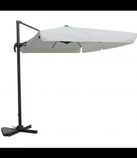 Ombrellone Da Giardino 2x3 Palo Decentrato Top In Poliestere 200 G/Mq Bianco Per Esterno