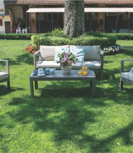 Set salotto divano 2 posti da giardino in alluminio Riverside