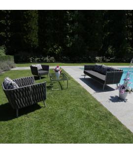 Set Salotto divani da giardino in alluminio Amira