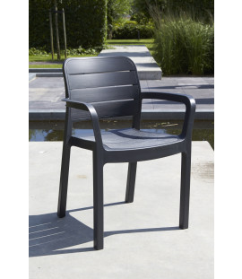 Set 4 sedie da giardino in polipropilene Graphite Albert
