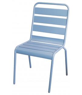 Set 4 sedie da giardino in acciaio Azzurro Luna