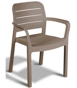 Set 4 sedie da giardino in polipropilene Cappuccino Albert
