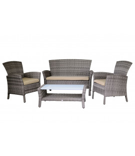 Set salotto in rattan sintetico Agata Grey