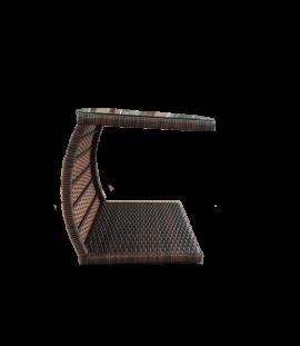 Tavolino di servizio in rattan sintetico marrone Belen cm. 49x39x49 h.