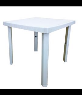 Tavolo Quadrato da Esterno in Resina 4 Posti  80x80x72h Bianco