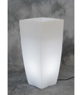 Vaso luminoso a led per esterno quadrato