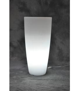 Vaso luminoso a led per esterno tondo