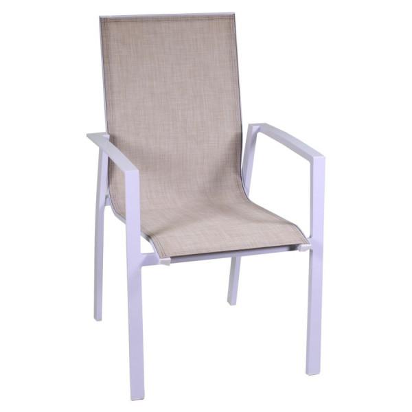 sedia poltrona in alluminio e textilene