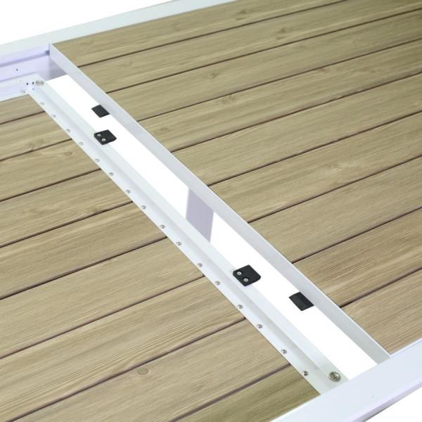 dettaglio apertura e chiusura ripiano effetto legno