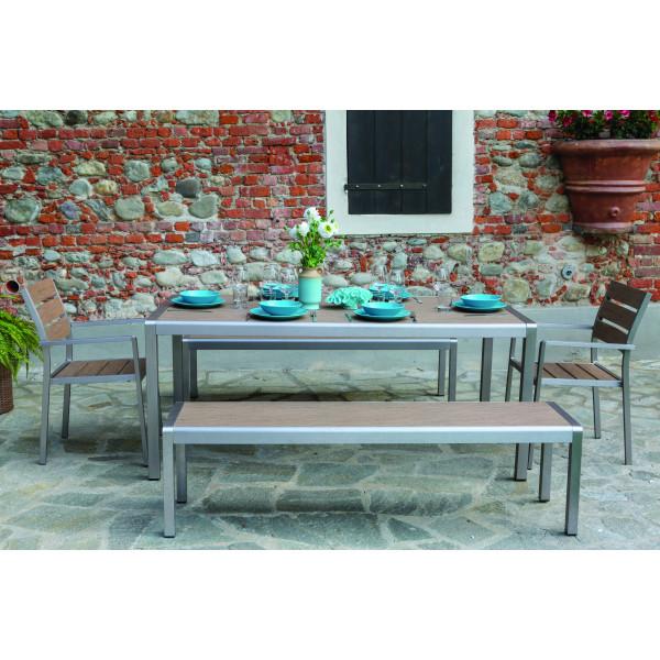 Tavoli Da Pranzo Per Esterni.Set Tavolo Da Pranzo In Alluminio Da Esterno Giardino Seattle