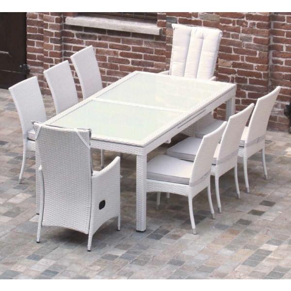 tavolo estensibile in rattan sintetico