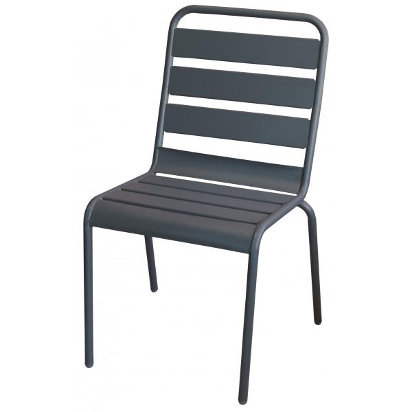 sedia da esterno in acciaio arredo giardino