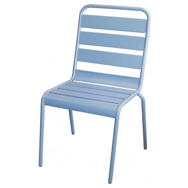Set 4 sedie da giardino in acciaio Bianco Luna