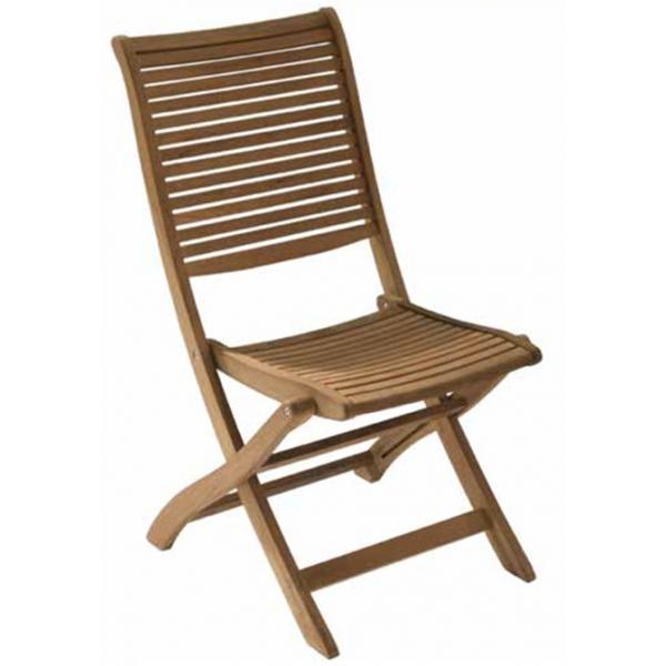 Sedia in legno teak da giardino