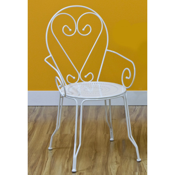 Set 4 sedie da giardino in acciaio Bianco Giove