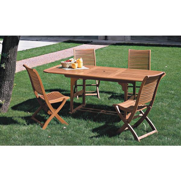 Tavolo estensibile in legno balau da giardino