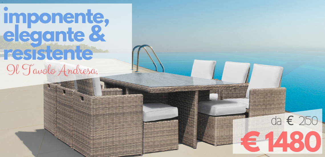 LuxuryGarden: arredo giardino, divani esterno online