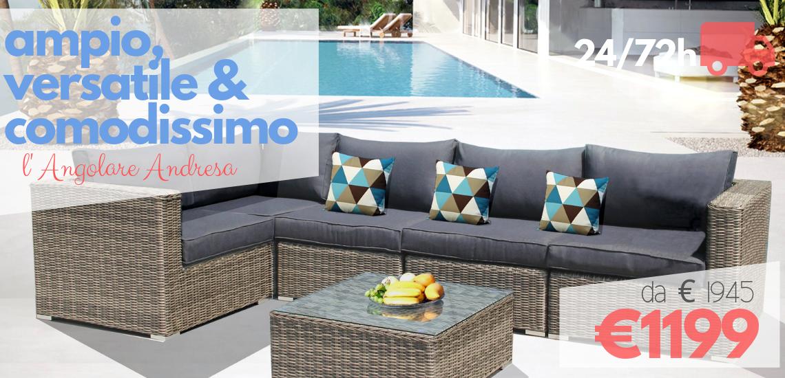 Luxurygarden arredo giardino divani esterno online for Offerte divani esterno